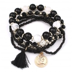 Multi bracelets perles